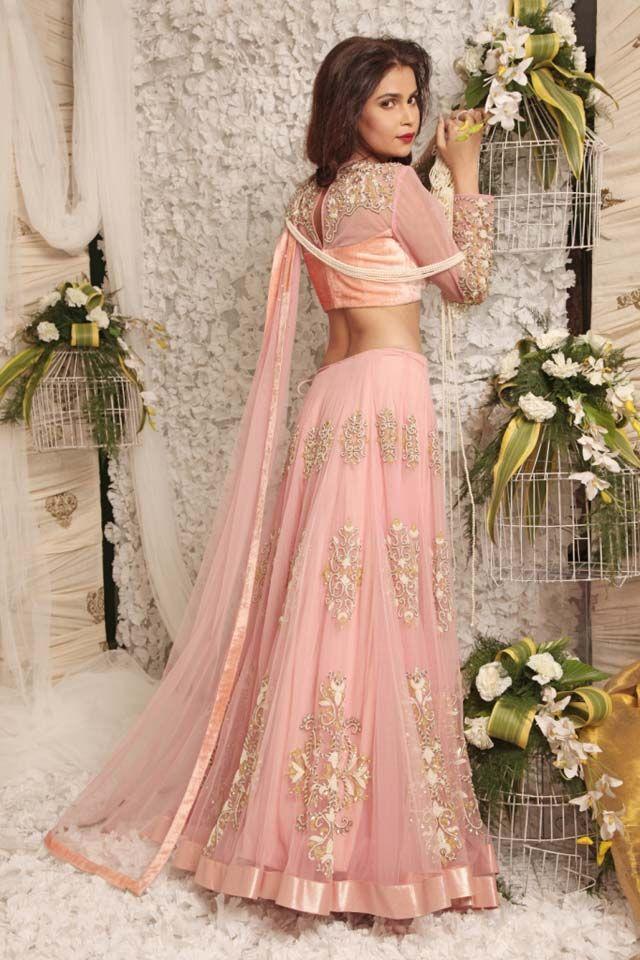 light pink lehenga