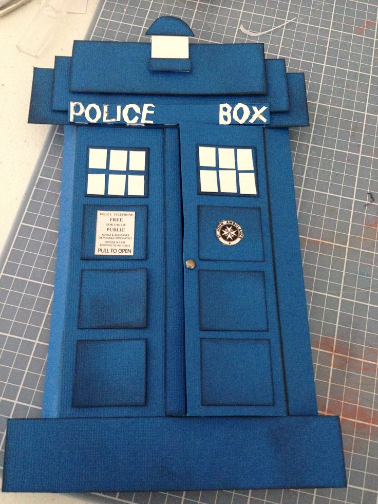 The Tardis Card Inspired by pinterest