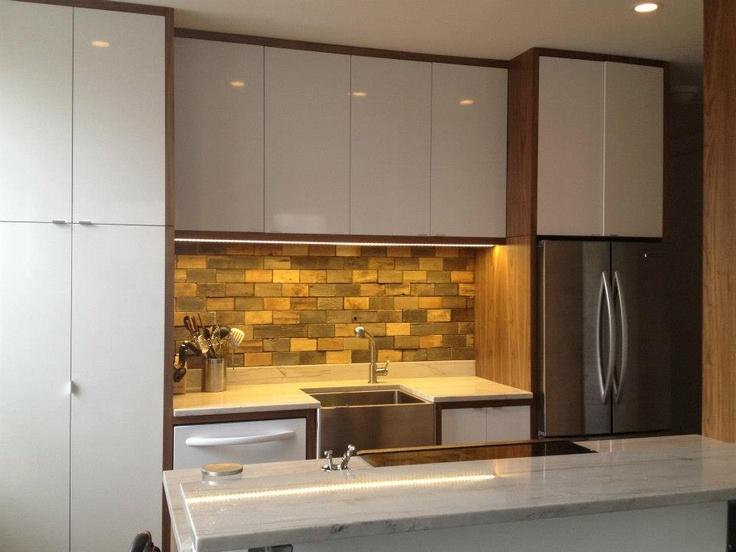 - Reclaimed Wood Backsplash Making A Home Pinterest Woods