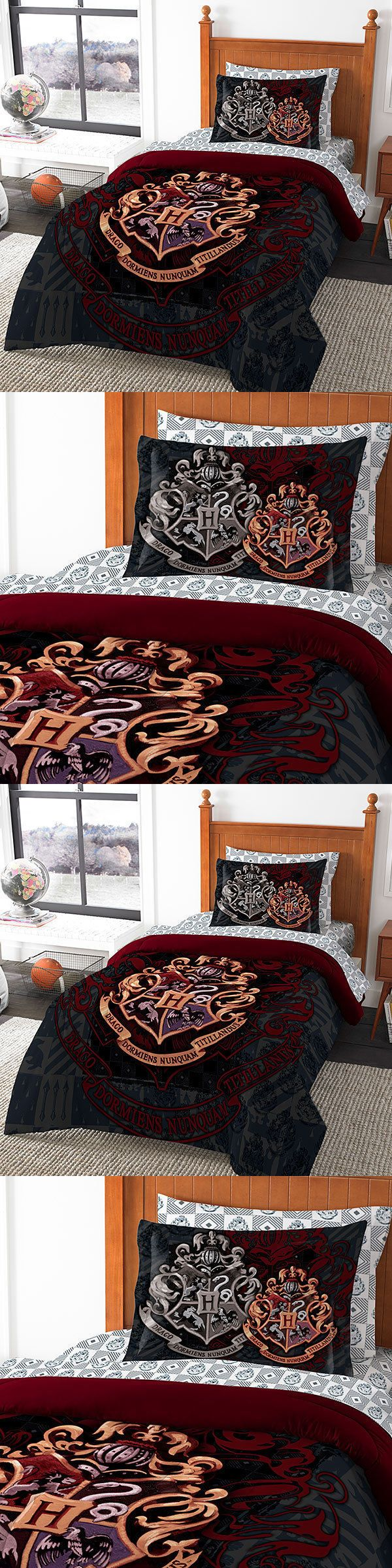Other Bedding 25815: Harry Potter Hogwarts 7 Pc Bed Set Comforter Flat Fitted Sheet Pillowcases Shams -> BUY IT NOW ONLY: $152.5 on eBay!