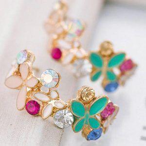 Kolczyki Romantyczne Crystal Butterfly 01