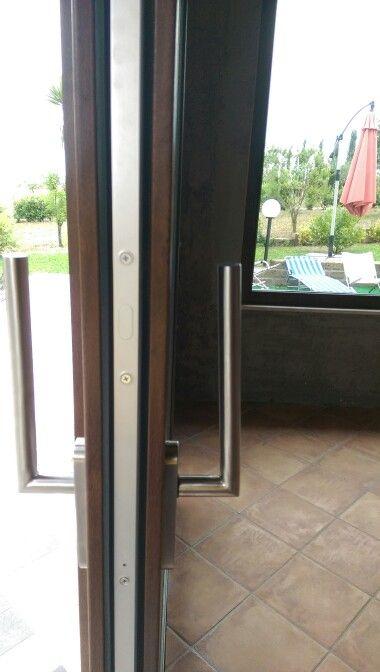 Maniglioni acciaio per finestra alza e scorri