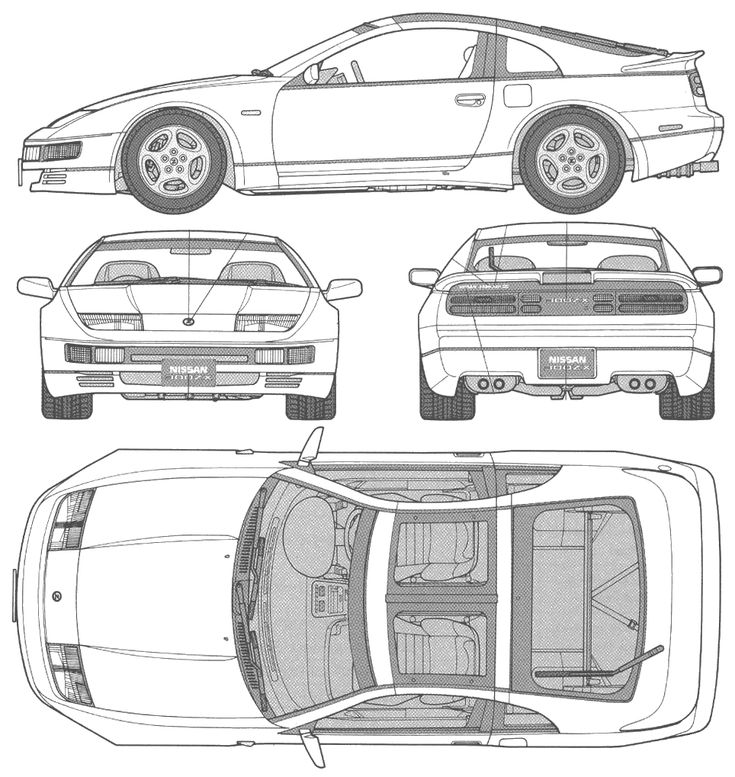 1990 Nissan 300 ZX Coupe blueprint