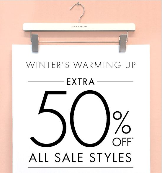 WINTER'S WARMING UP EXTRA 50% OFF* ALL SALE STYLES