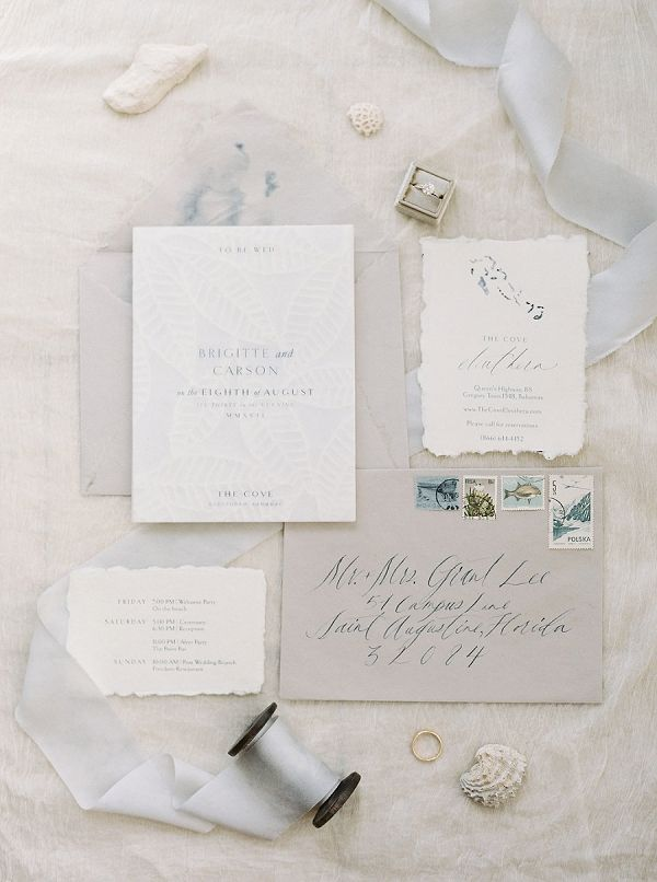 Destination Wedding Invitation Suite Tropical Beach
