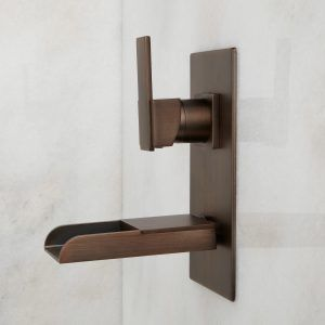 Oil Rubbed Bronze Wall Mount Bathroom Faucets
