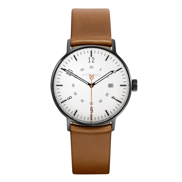 Mister Wolf MW1 39mm watch. Really nice - designed and made in Sydney, too. You can mix and match and choose whatever colour band/case/face you like.