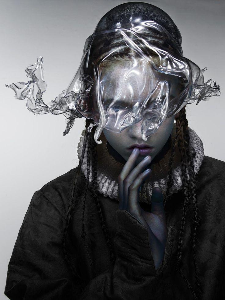 """""""Amor"""" Photography: Nick Knight Styling: Amanda Harlech Make-up: Laura Dominique at Streeters London Hair: Eamonn Hughes at Premier Hair and Make-up Model: Molly Bair at The Society Nails: Mihelle Humphrey at LMC Worldwide"""