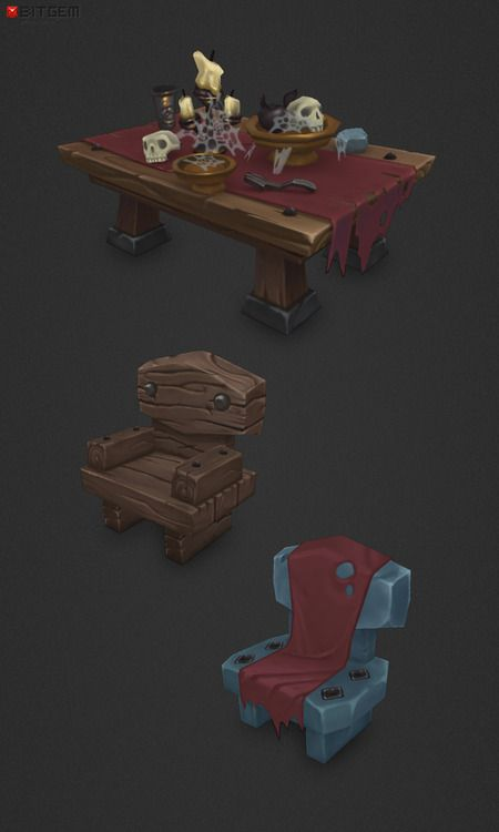 Dungeon Entourage A few useful low poly decorative dungeon entourage items to breathe life into a dungeon scene.
