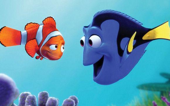 Dory, em Procurando Nemo: ela tem problemas de memória, mas um coração tão grande que Marlin só encontra seu filho Nemo graças a ela, que lhe dá esperança e sabe falar baleiês! Dory é tão simpática que vai ganhar um filme próprio, Procurando Dory, previsto para 2015!