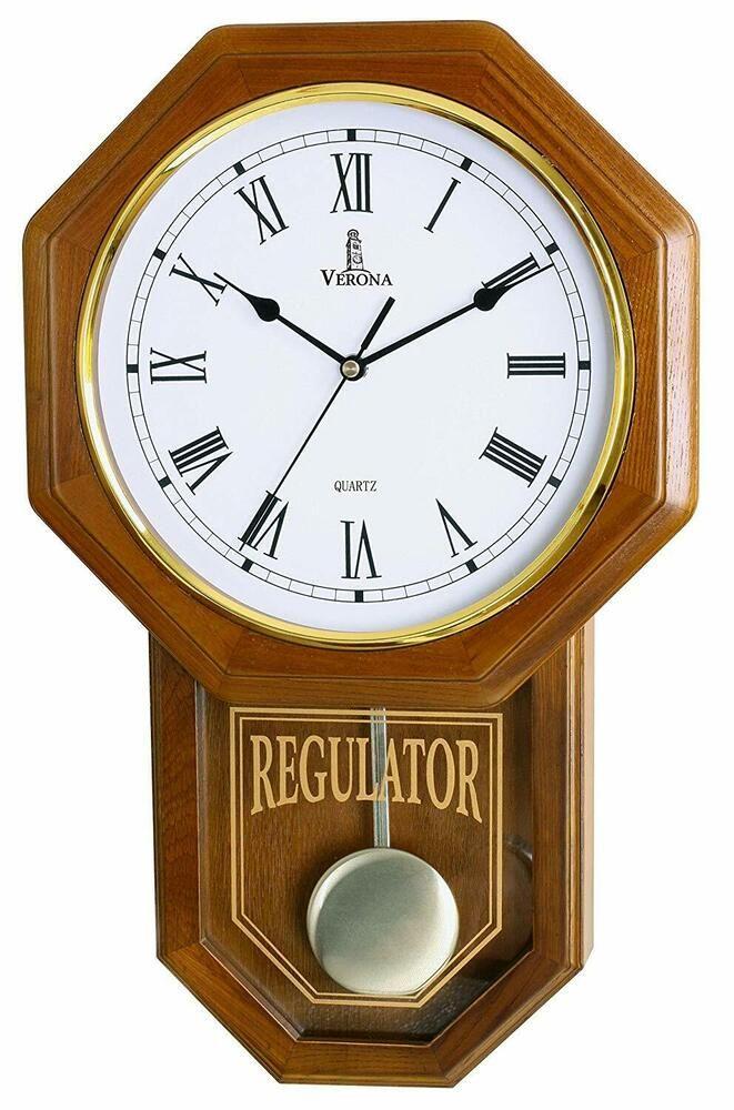 Best Pendulum Wall Clock Silent Decorative Wood Clock With Swinging Pendulum B Fashion Home Garden Homedcor Clo Pendulum Clock Clock Wall Decor Wall Clock