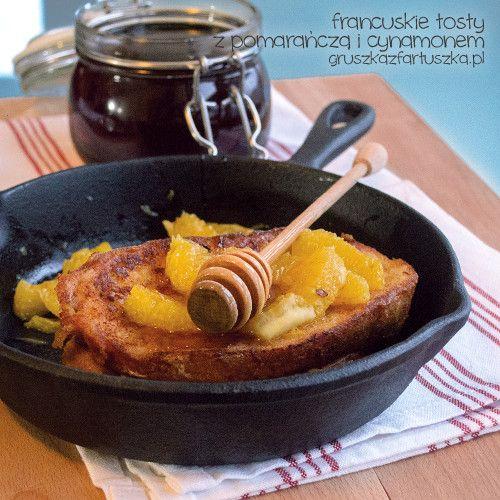 francuskie tosty z pomarańczami i cynamonem