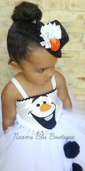 Disney Inspired Olaf the Snowman from Frozen Girls by NaomiBlu