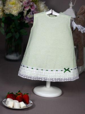 vestido verano paz rodriguez rayas verdes y blancas