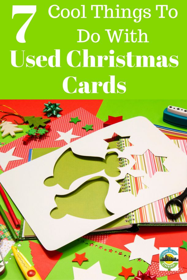 7 cool things to do with used christmas cards recycling for How to recycle old christmas cards