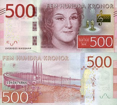 Sweden 500 Kronor 2015