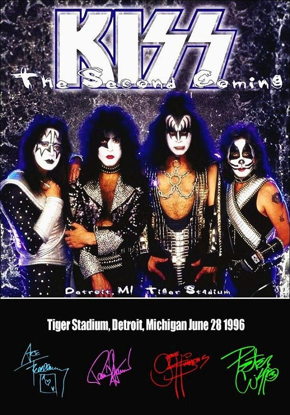 KISS Band 1996 Tiger Stadium Counter Top Stand-Up Display Gift