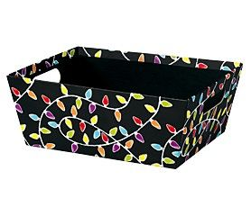 """Large Market Tray Merry and Bright Chalkboard 12"""" x 9.5"""" x 3.5""""-59345"""