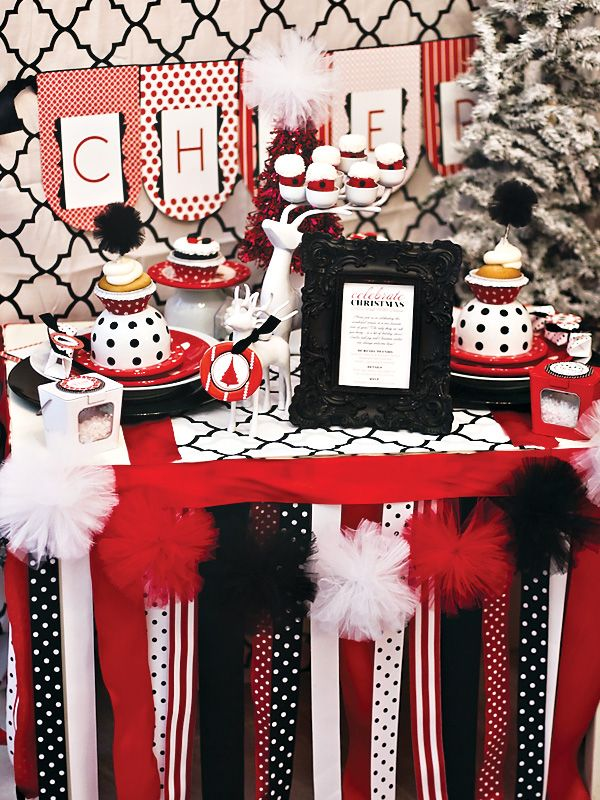Love the styling—Oh-So-Very Merry & MOD {Christmas Party} // Hostess with the Mostess®