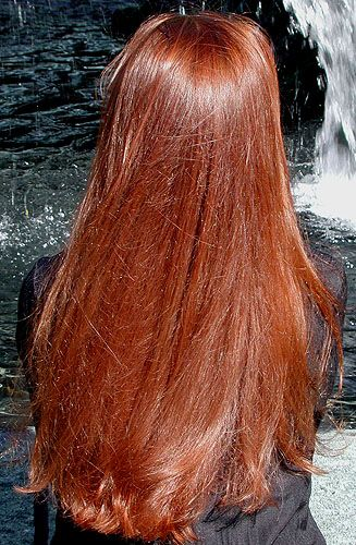 Henna dye for hair- love it!  Best red ever, and lasts a long, long time.