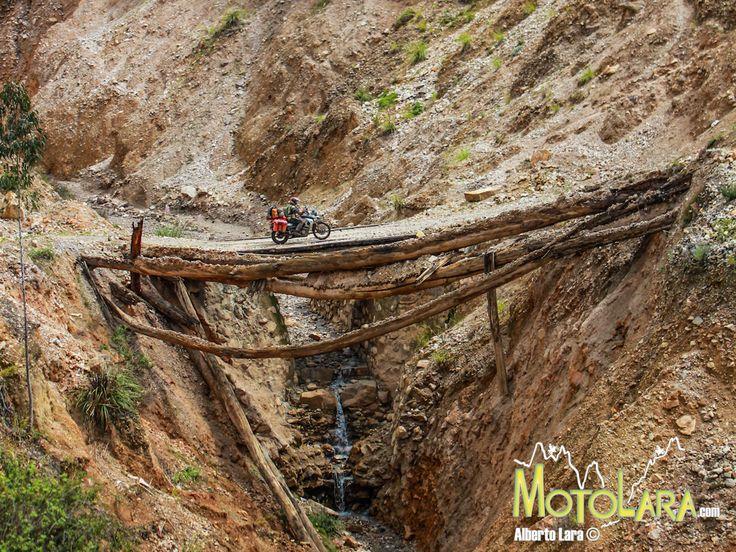 Scary bridge in Angasmarca, Peru