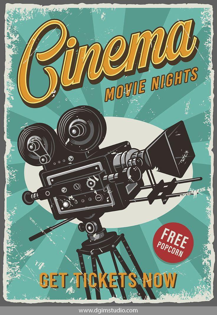 12 Cinema Posters Poster Vintage Retro Cinema Posters Vintage Poster Design