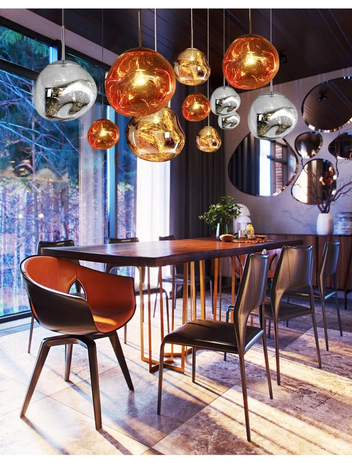 Tom Dixon Melt Mini Pendant Light Replica Chrome Gold Tom Dixon Home Decor Furniture Design