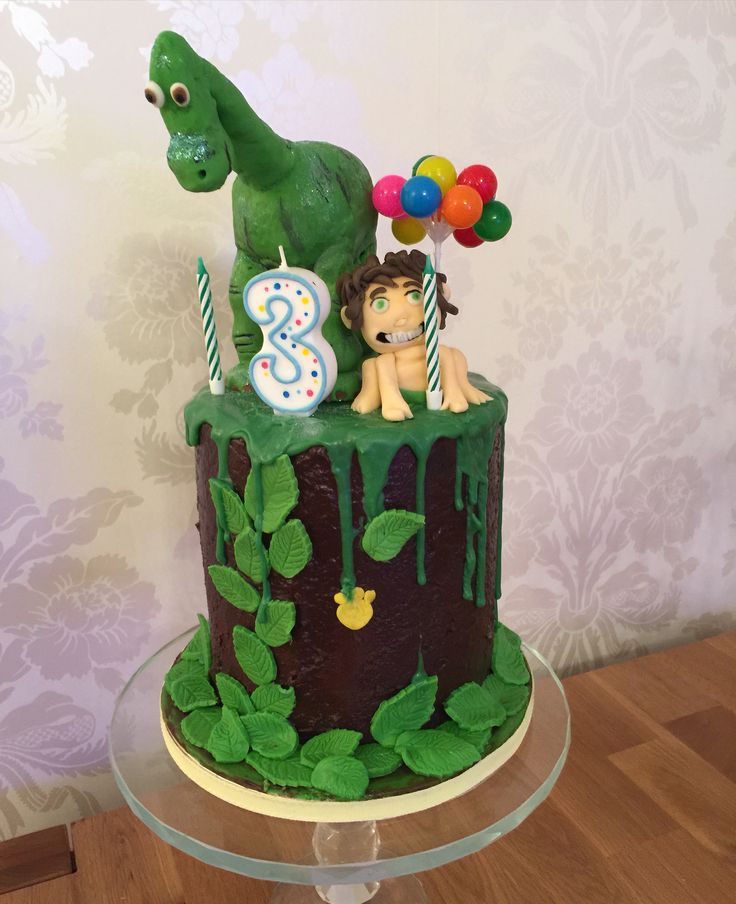 Arlo Spot Good Dinosaur Cake Drip Cake Dino Party