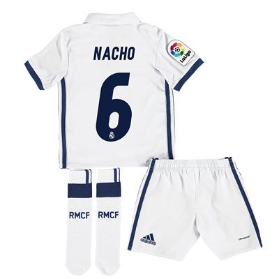 Real Madrid Home Jersey 2016/17 - Infant - with Nacho 6 printing: With ventilating climacool® technology… #RealMadridShop #RealMadridStore