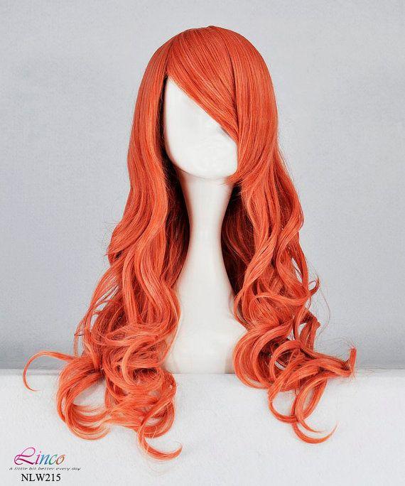 Fashion hot red curly wig 65cm cosplay wig red by LincoFashionWigs, $20.99