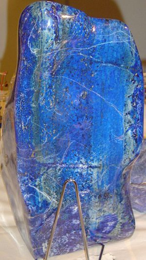 """lapis lazuli a semiprecious stone only found in Chile at the """"Flor de Los Andes"""" mine. While I was in Santiago I purchased several pieces!!!!"""