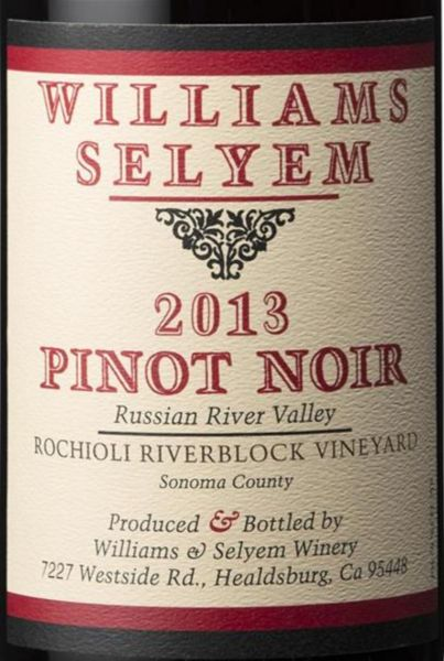 2013 Williams Selyem Pinot Noir Rochioli Riverblock Vineyard