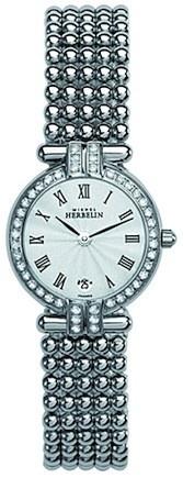 Michel Herbelin Ladies Silver Dial Perle Bracelet Watch 16873/44XB08
