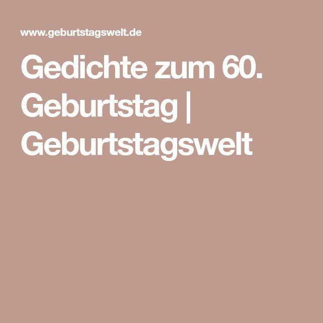 Gedichte zum 60. Geburtstag | Geburtstagswelt