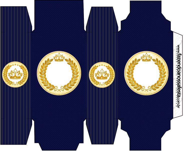 Caixa Sabonete Coroa Príncipe Azul Marinho
