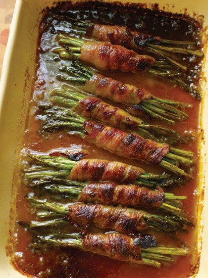 Sweet, salty, bacon-wrapped asparagus will give any greens-hater a change of heart.