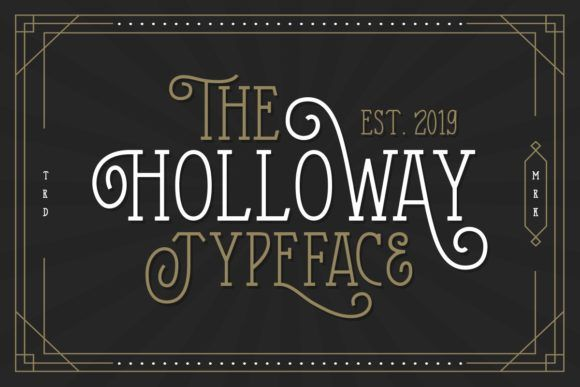 The Holloway Font By Letterhend Creative Fabrica Typeface Vintage Fonts New Fonts