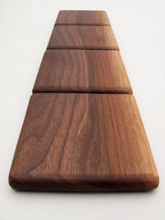 Black Walnut Wood Coasters Set Simply Natural by TimberGreenWoods, $23.95