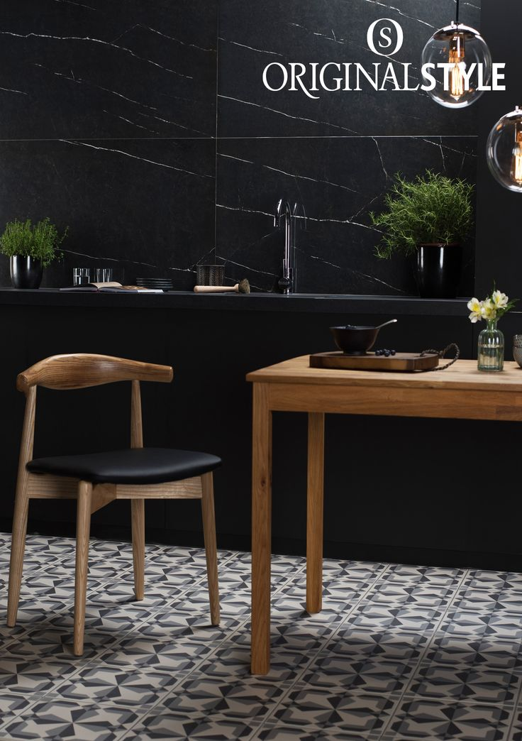 Nero Marquina from Original Style's Tileworks collection. Add drama with these striking marble effect tiles.  Perfect to create a flawless look on kitchen flooring or walls.