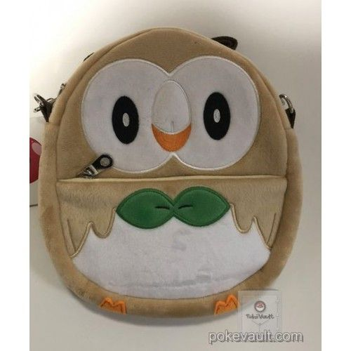 Pokemon Center 2017 Rowlet Plush Shoulder Pouch
