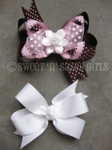 How to make Boutique and Pinwheel style hair bows