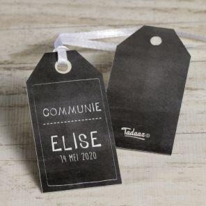 Krijtbord label   Tadaaz #communie #lentefeest #aandenken #label #krijtbord www.tadaaz.be