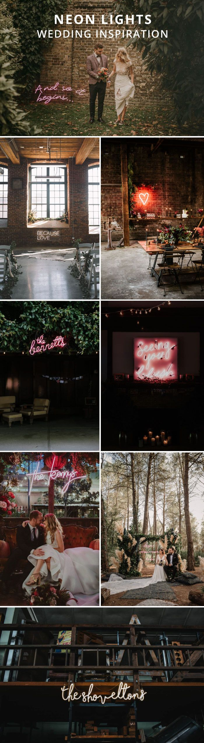 how to use neon lights at your wedding | Where to find neon lights | alternative wedding decor | alternative wedding lighting | Who makes the best neon wedding lights