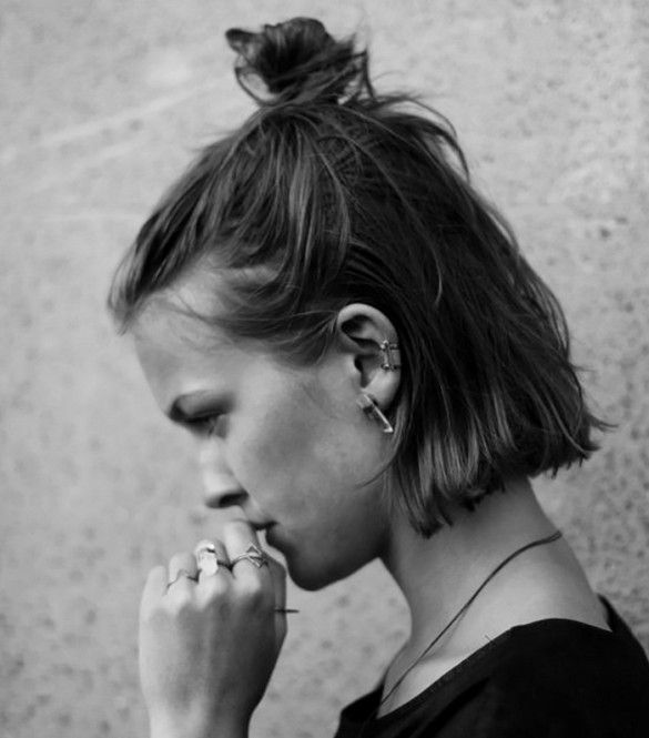 Fabulous 1000 Ideas About Short Hair Buns On Pinterest Shorter Hair Short Hairstyles Gunalazisus