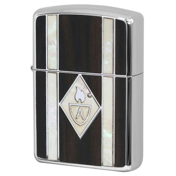 Armor Zippo Lighter Natural Wood Natural Shell Inlay 162ws Wh