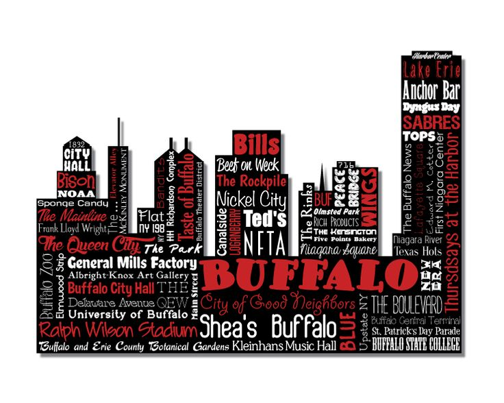 35 best geography city skyline word art images on for Craft stores buffalo ny