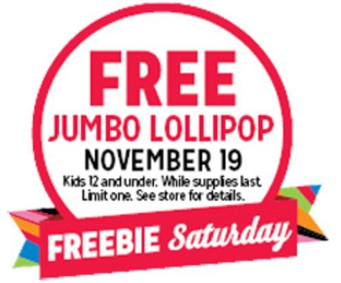Get A Free HUGE GIANT Lollipop At K-Mart!!