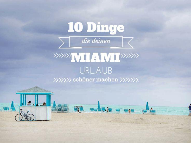 Miami Urlaub taugt lange nicht nur für Strand und Party. Miami hat auch die schönsten Sonnenaufgänge, jede Menge Voodooshop und Krokodilseen