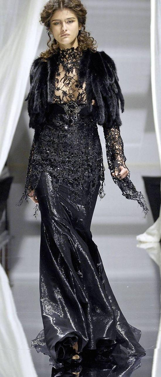 Zuhair Murad Retro Vintage Black Gown