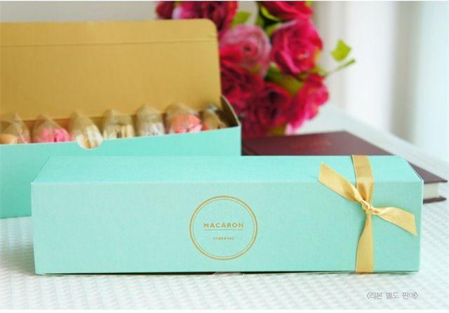 brief elegant macaron box,cookie bakery gift boxes YN-102402